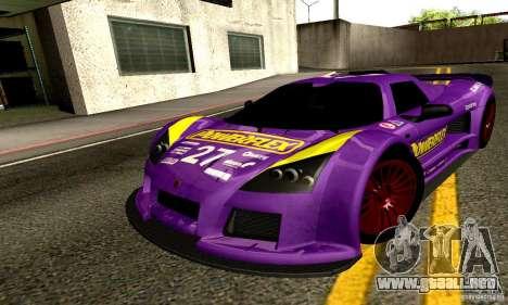 Gumpert Apollo para las ruedas de GTA San Andreas