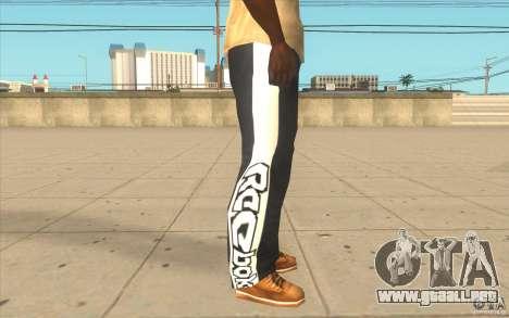 Reebok Sporthose para GTA San Andreas sucesivamente de pantalla