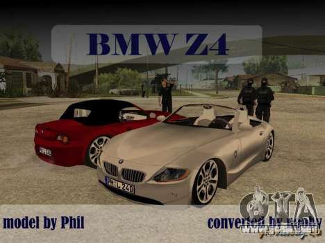 BMW Z4 para GTA San Andreas left