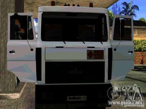 MAZ 533702 camión para la vista superior GTA San Andreas