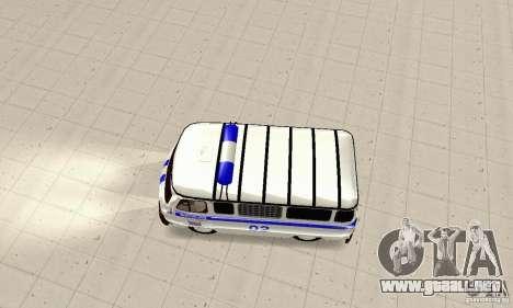 Policía UAZ para la visión correcta GTA San Andreas