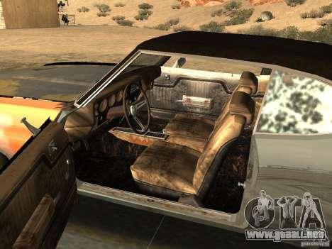 Chevrolet Chevelle Rustelle para GTA San Andreas vista posterior izquierda