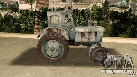 Tractor t-40 para GTA Vice City left