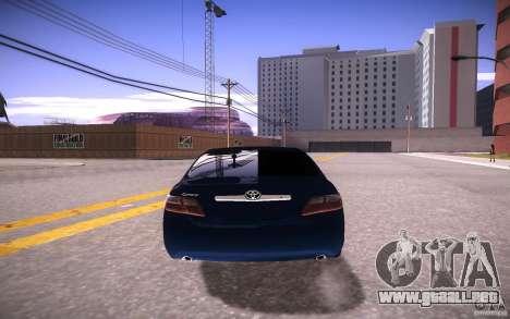 Toyota Camry Light Tunning para GTA San Andreas vista posterior izquierda
