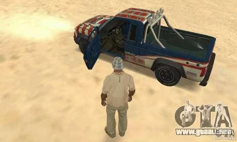 Nevada v1.0 FlatOut 2 para GTA San Andreas vista hacia atrás