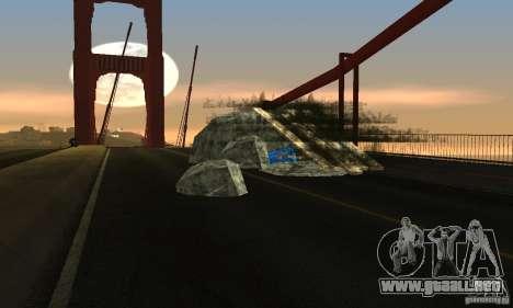 Puente destruido en San Fierro para GTA San Andreas segunda pantalla