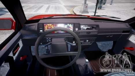 Vaz-21093i para GTA 4 vista hacia atrás