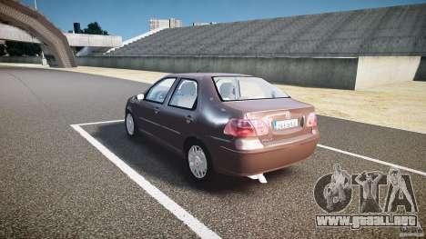 Fiat Albea Sole (Bug Fix) para GTA 4 Vista posterior izquierda