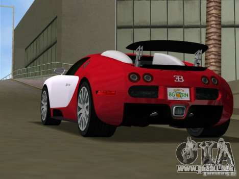 Bugatti Veyron EB 16.4 para GTA Vice City vista lateral izquierdo