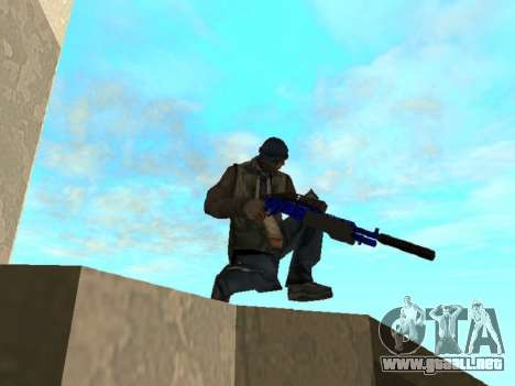 Blue and black gun pack para GTA San Andreas sexta pantalla