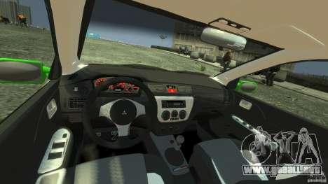 Mitsubishi Lancer Evo IX Tuning para GTA 4 visión correcta