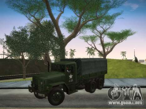 AM General M35A2 para GTA San Andreas vista posterior izquierda