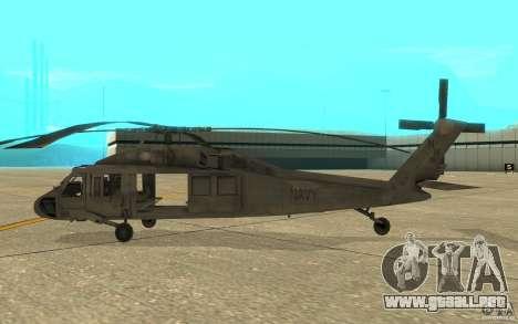 UH-80 para GTA San Andreas vista posterior izquierda