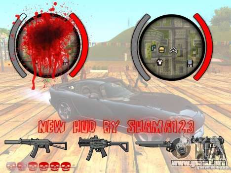 New HUD by shama123 para GTA San Andreas