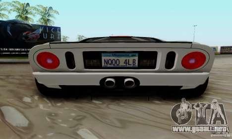 Ford GT 2005 para vista lateral GTA San Andreas