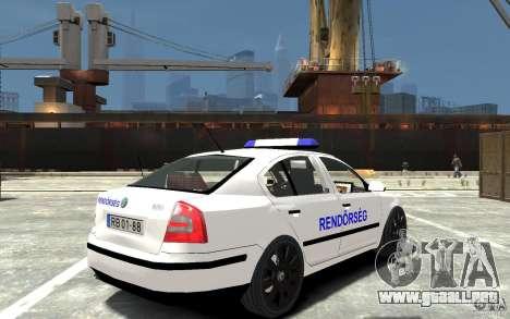 Skoda Octavia 2005 Hungarian Police para GTA 4 visión correcta