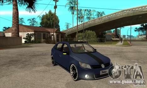 Volkswagen Gol Vintage para GTA San Andreas vista hacia atrás