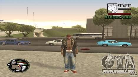 Sam B from Dead Island para GTA San Andreas segunda pantalla