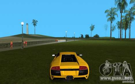 Lamborghini Murcielago LP640 para GTA Vice City visión correcta
