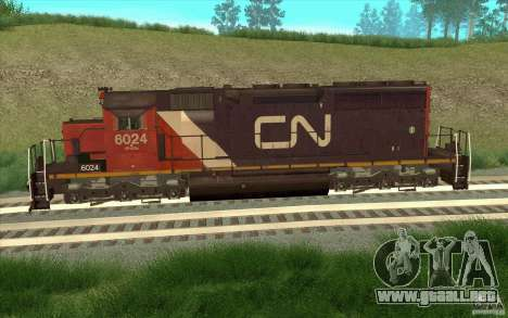 Canadian National SD40U para GTA San Andreas left