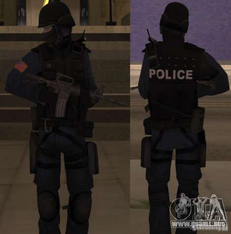 SWAT Officer para GTA San Andreas