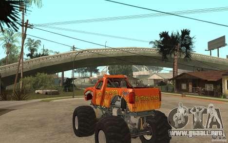 El Toro Loco para GTA San Andreas vista posterior izquierda