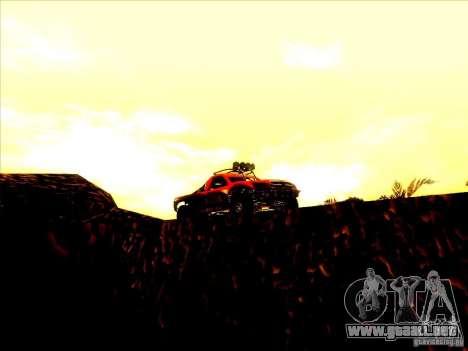 Toyota Tundra Rally para visión interna GTA San Andreas