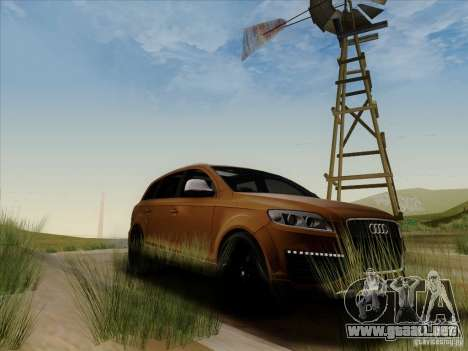 Audi Q7 2010 para GTA San Andreas vista hacia atrás