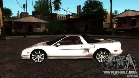 Acura NSX Stock para GTA San Andreas left