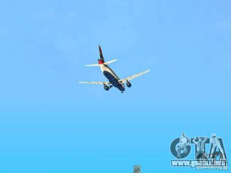 Airbus A320 British Airways para la vista superior GTA San Andreas