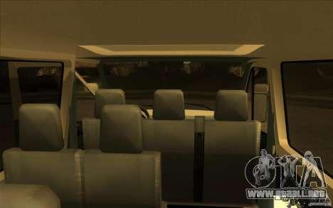 Mercedes Benz Sprinter 315 CDI para GTA San Andreas vista hacia atrás
