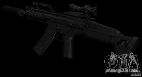 SCAR-L black para GTA San Andreas tercera pantalla