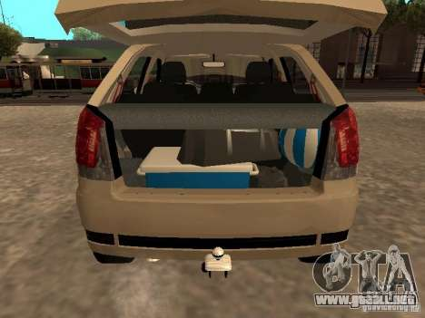 Fiat Palio 1.8R para GTA San Andreas vista hacia atrás