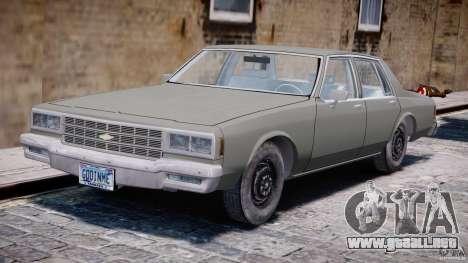 Chevrolet Impala 1983 [Final] para GTA 4 left