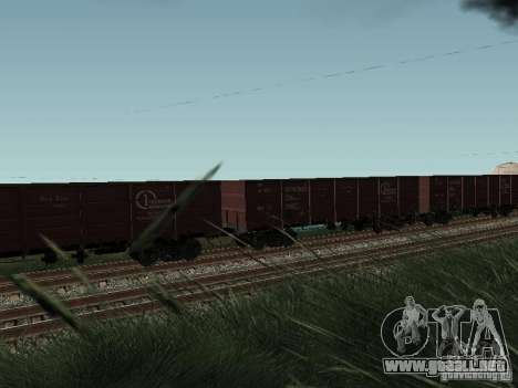 Empresa de carga carro abierto para la visión correcta GTA San Andreas
