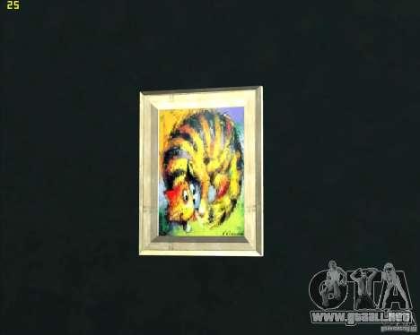 Pinturas en la casa de CJ para GTA San Andreas tercera pantalla