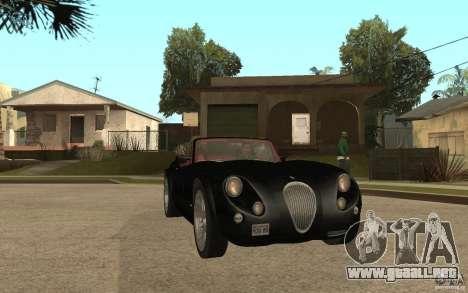 Wiesmann Roadster MF3 para GTA San Andreas vista hacia atrás