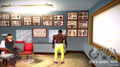 Tres nuevo tatuaje para GTA San Andreas quinta pantalla