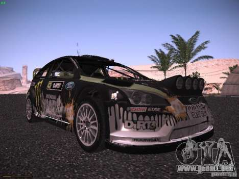Ford Focus RS Monster Energy para GTA San Andreas left