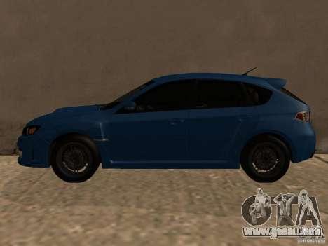 Subaru Imreza WRX para GTA San Andreas vista posterior izquierda