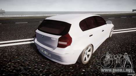 BMW 118i para GTA 4 vista superior