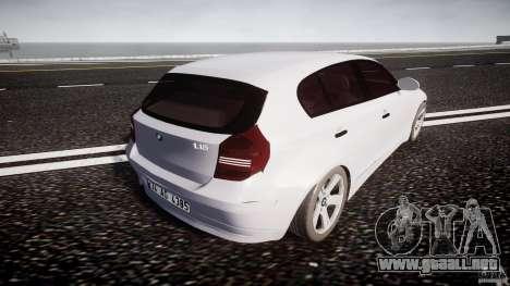 BMW 118i para GTA 4 vista superior
