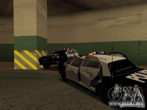 Police Civic Cruiser NFS MW para visión interna GTA San Andreas