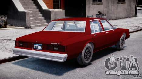 Chevrolet Impala 1983 v2.0 para GTA 4 vista lateral