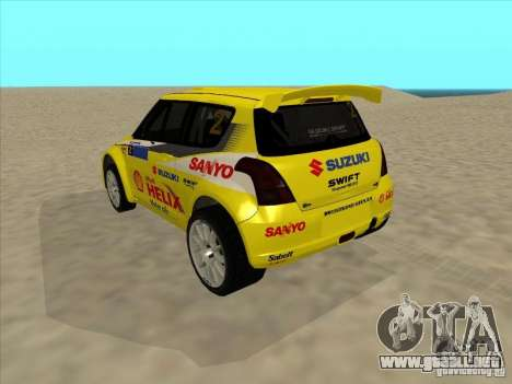 Suzuki Rally Car para GTA San Andreas left