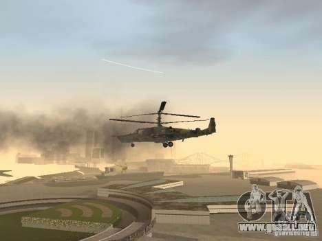 Ka-50 Black Shark para la vista superior GTA San Andreas
