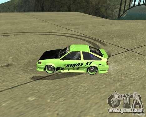 Toyota AE86 Levin para GTA San Andreas left