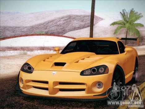Dodge Viper SRT-10 ACR para GTA San Andreas vista posterior izquierda