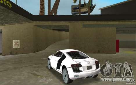 Audi R8 Le Mans para GTA Vice City vista lateral izquierdo