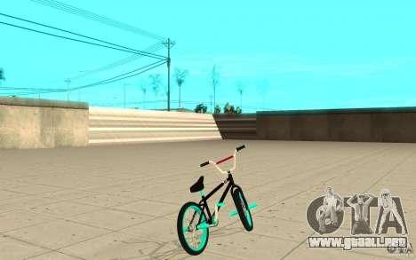 REAL Street BMX mod Black Edition para GTA San Andreas vista posterior izquierda